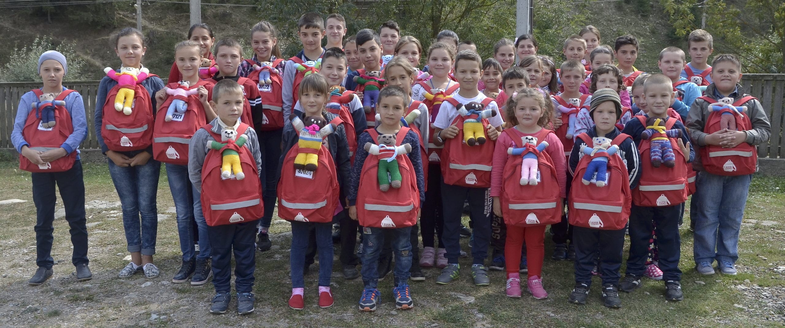 Group of Children with SchoolBags