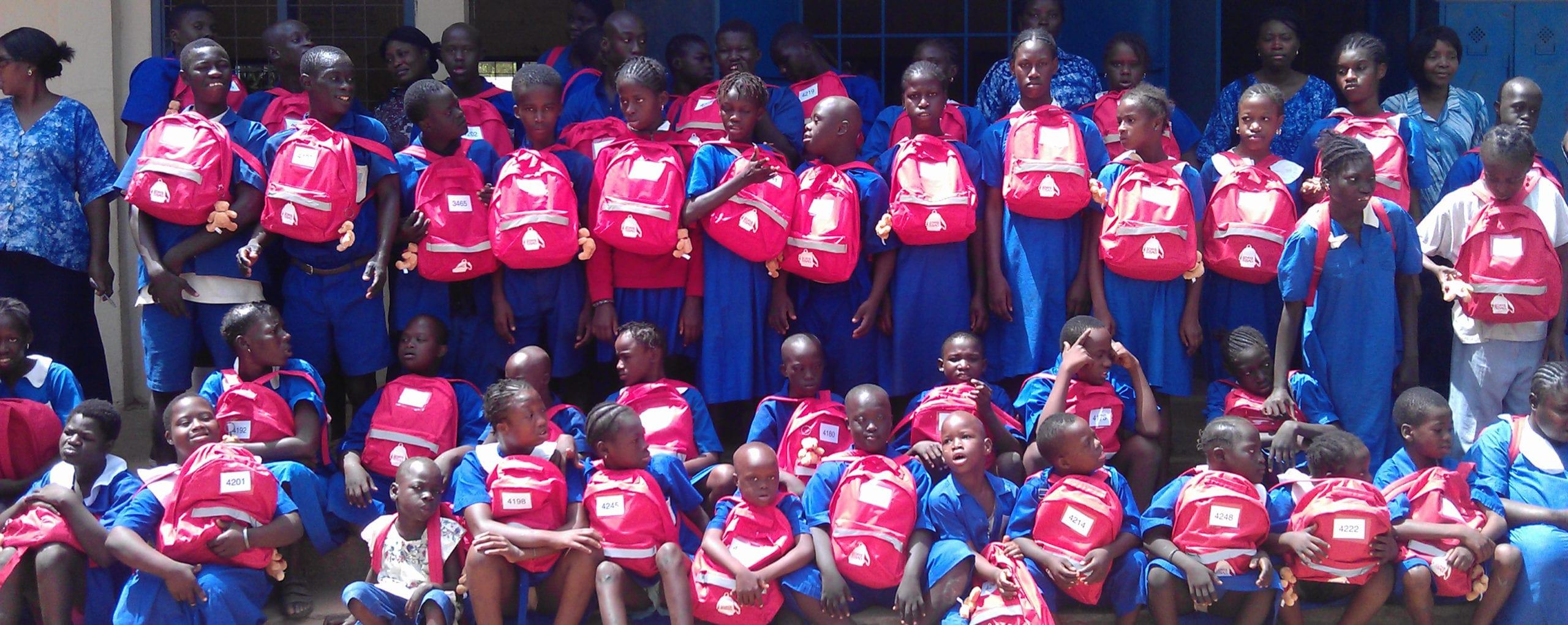 School Children with their SchoolBags