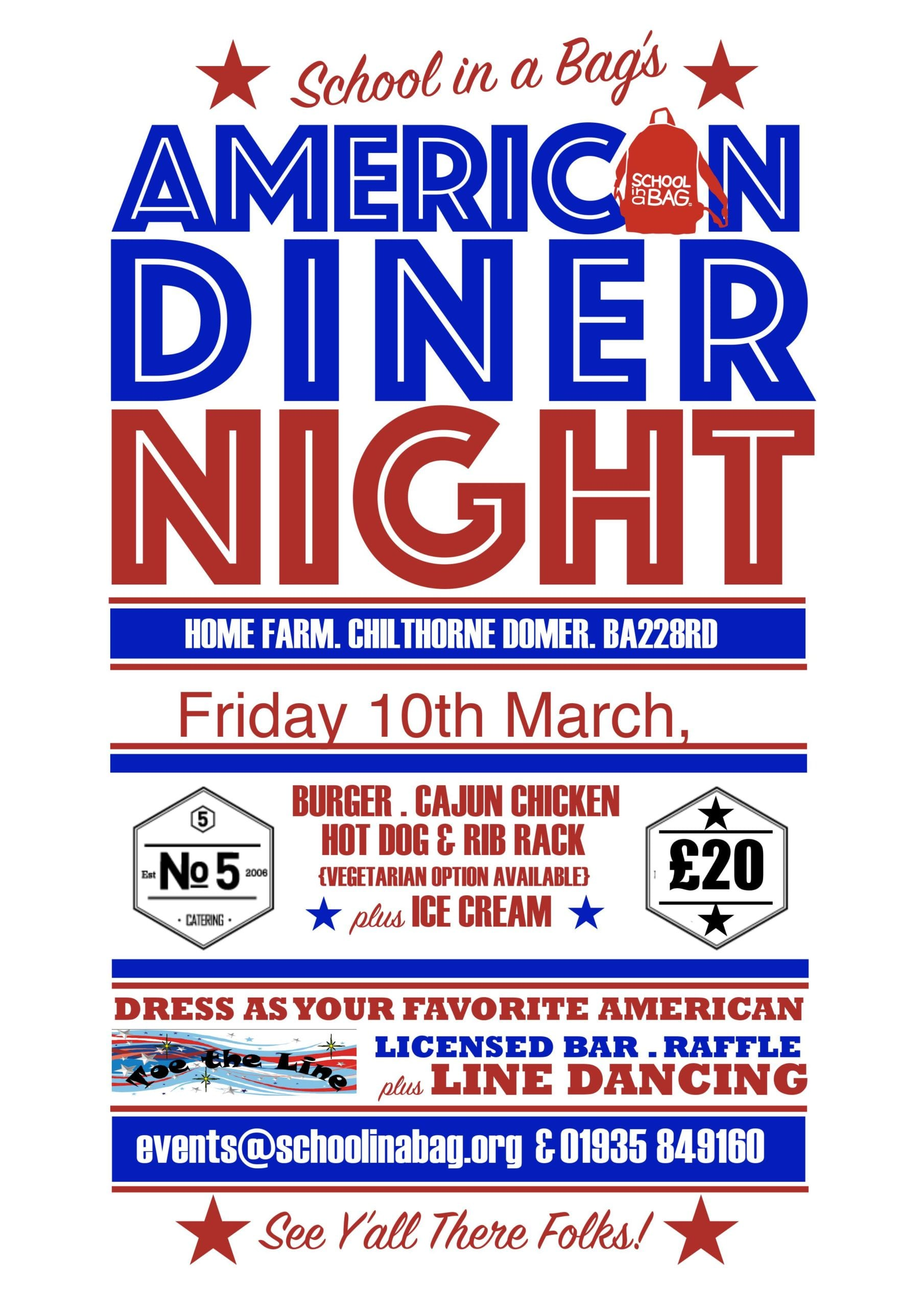 American Diner Night Poster