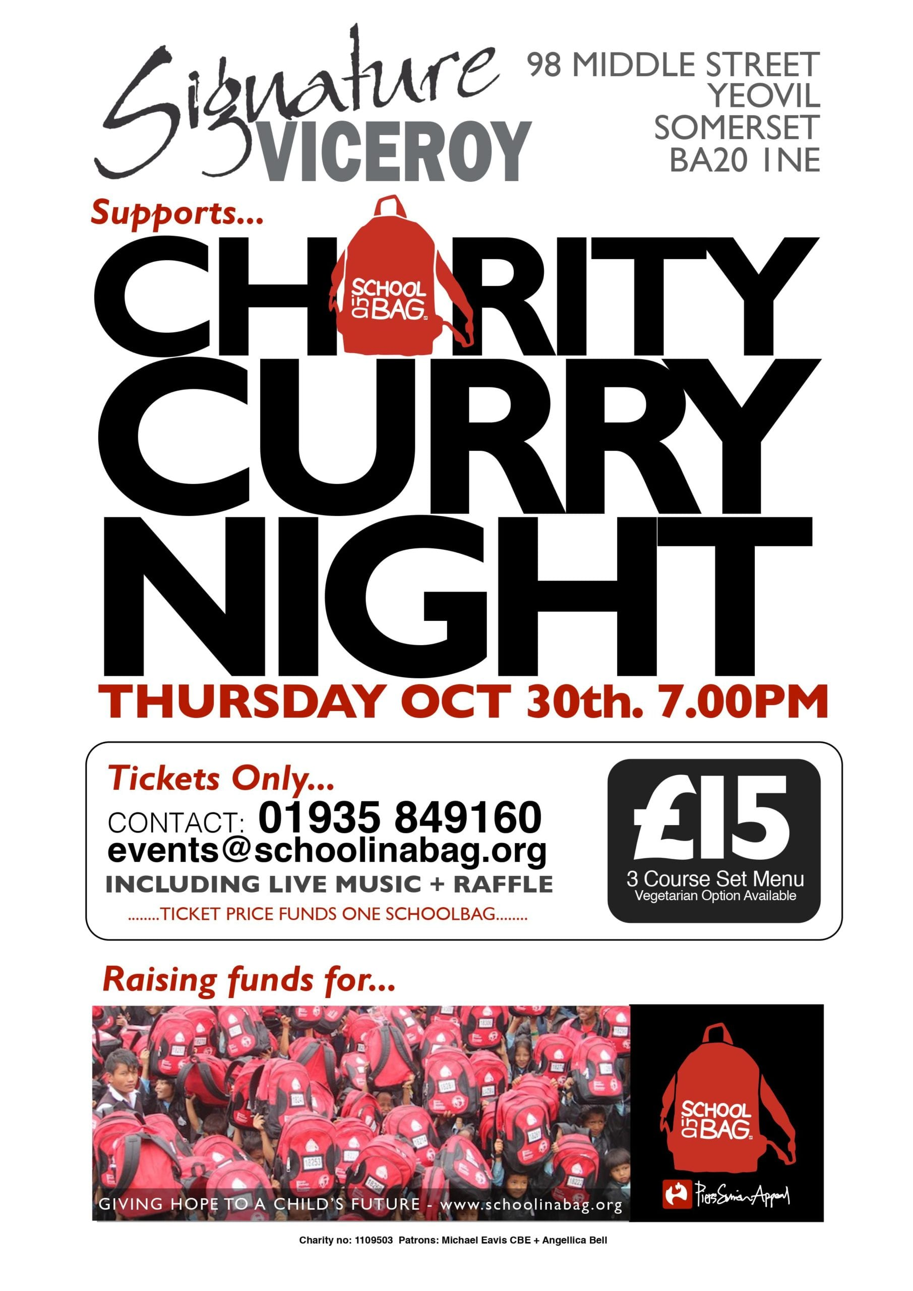Charity Curry Night Poster