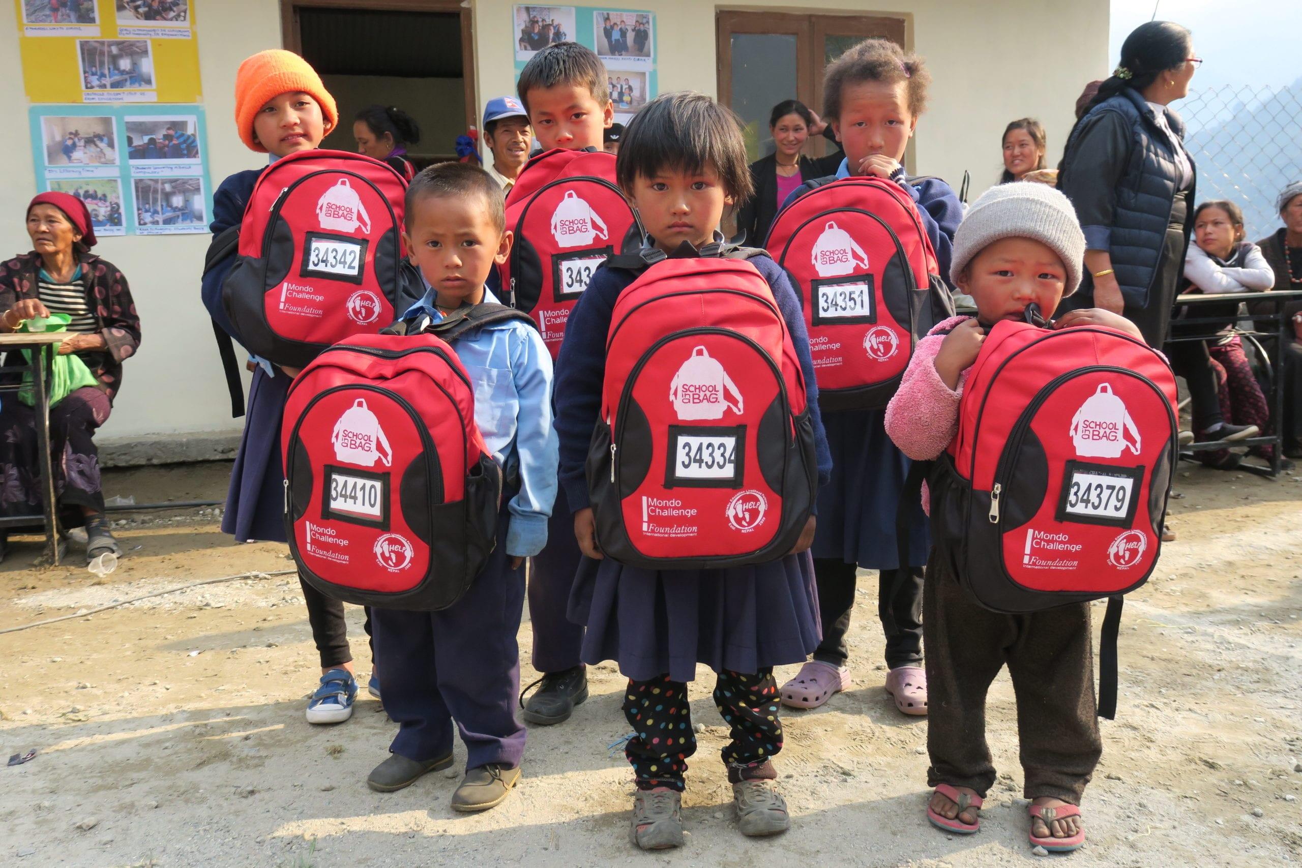 Children with SchoolBags