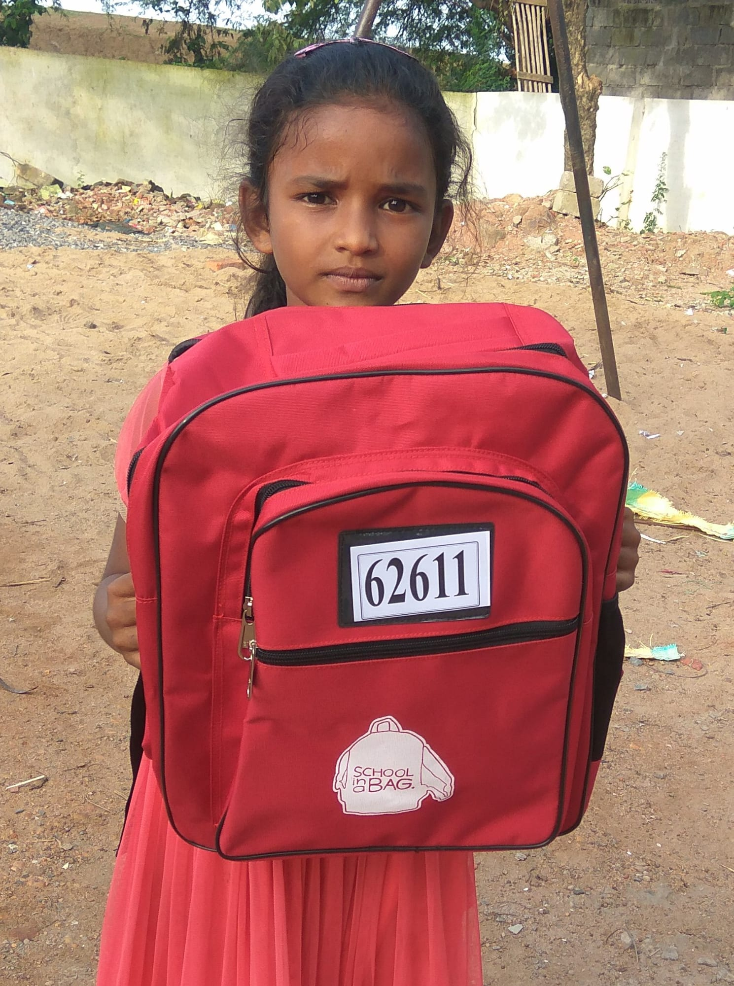 India - Girl with SchoolBag