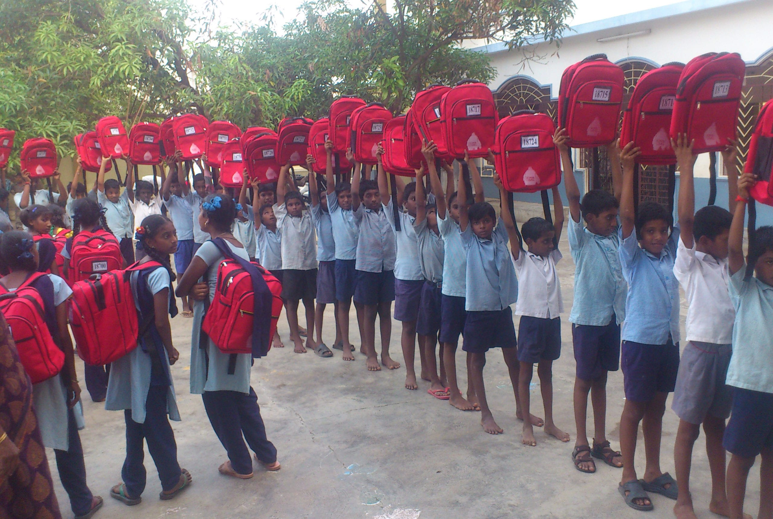India - School with SchoolBags