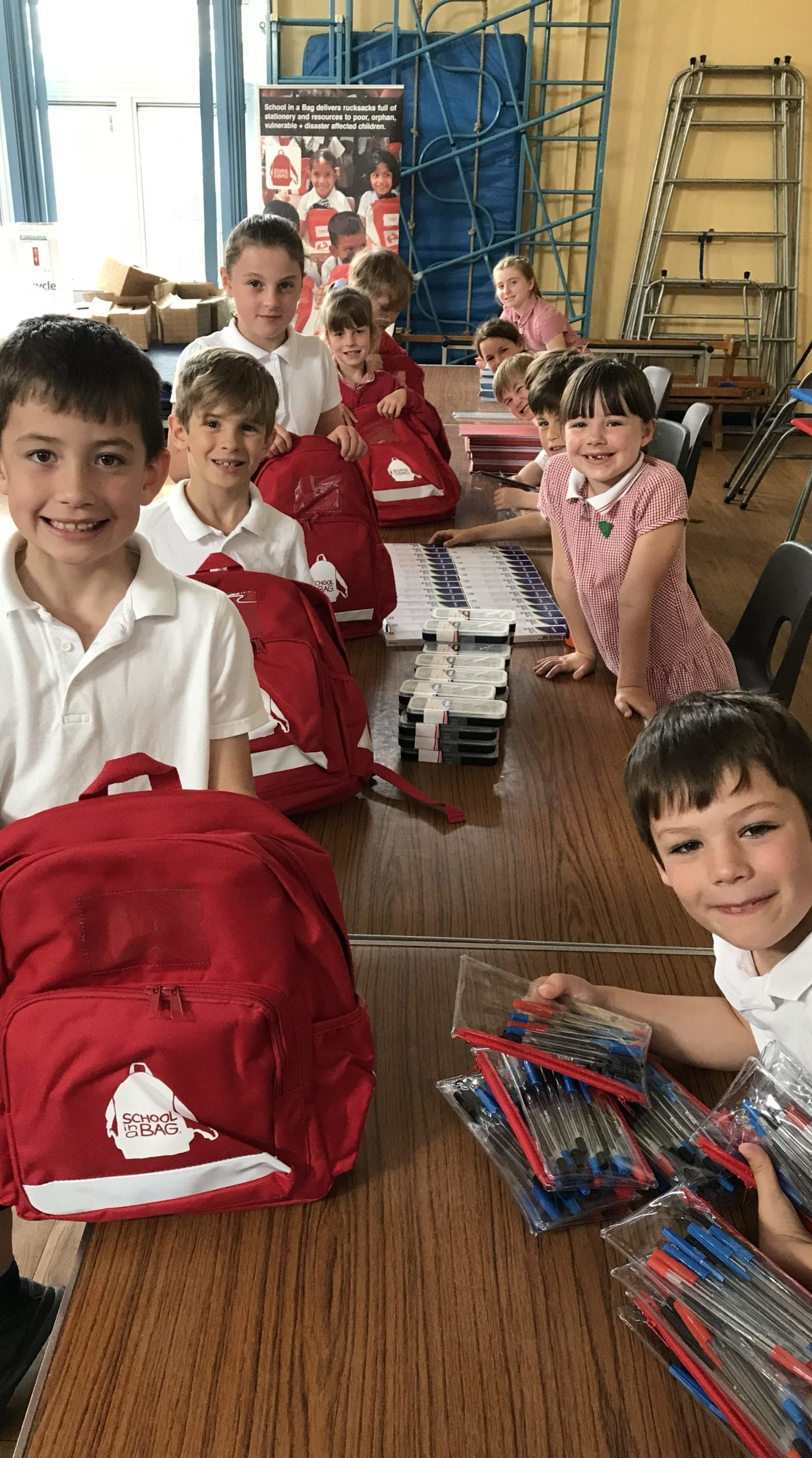 Children Packing SchoolBags
