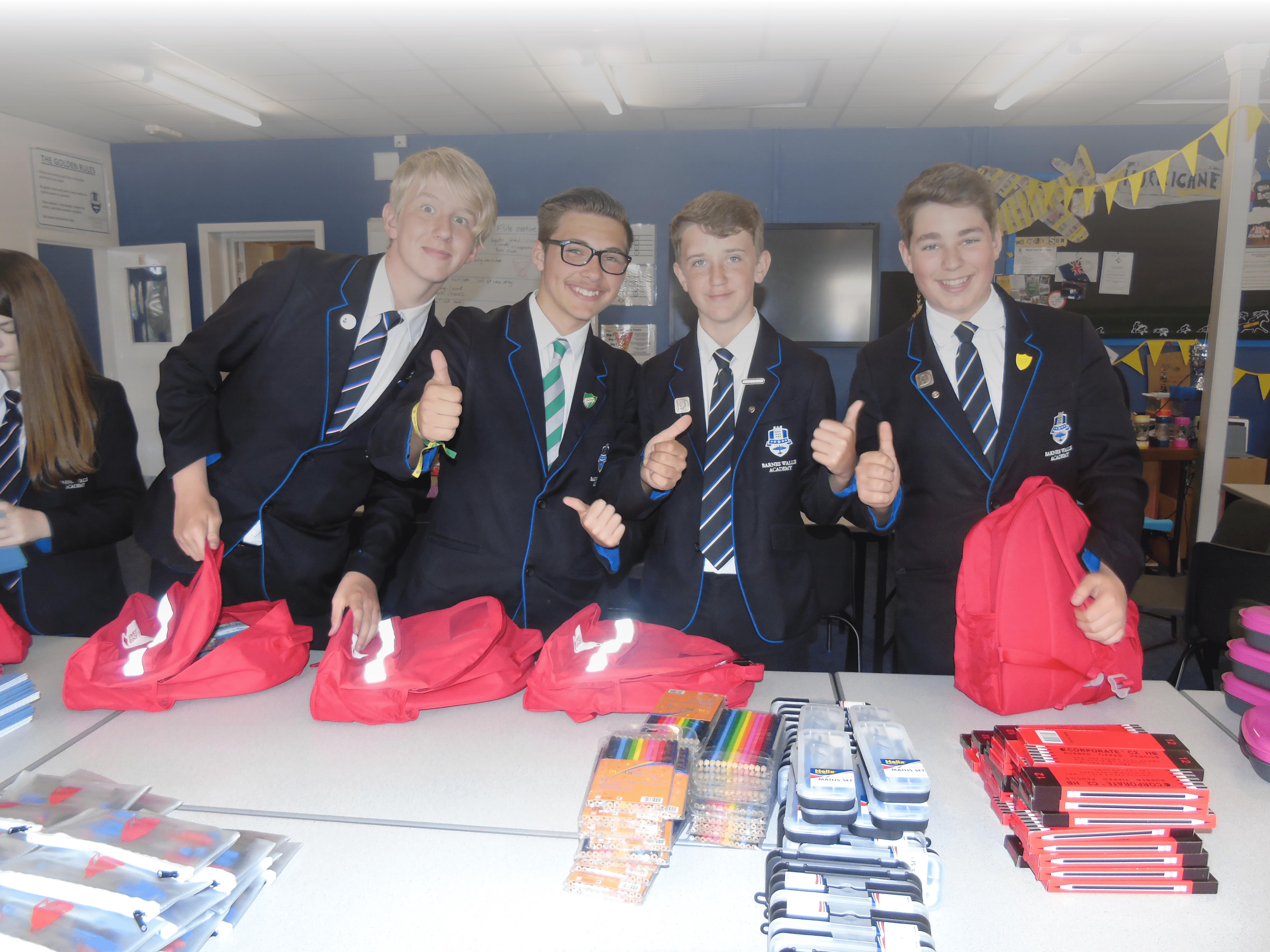 School Children packing SchoolBags