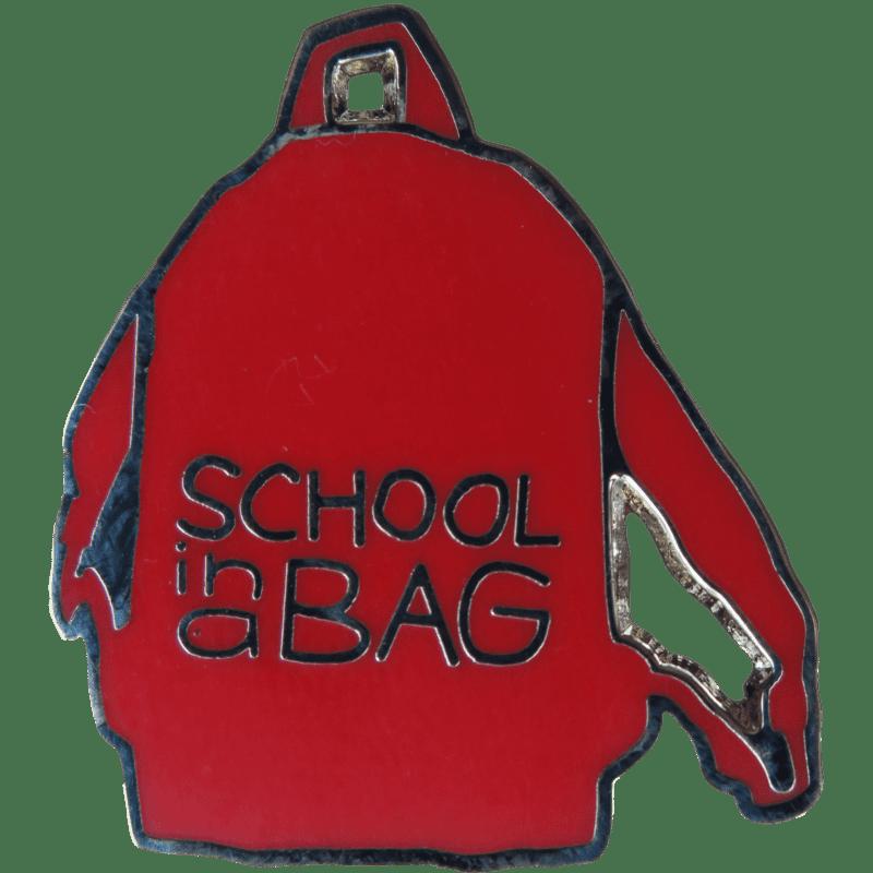 School in a Bag Pin Badge